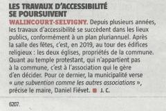 VDN 2019-02-21 TRAVAUX D'ACCESSIBILITE SE POURSUIVENT